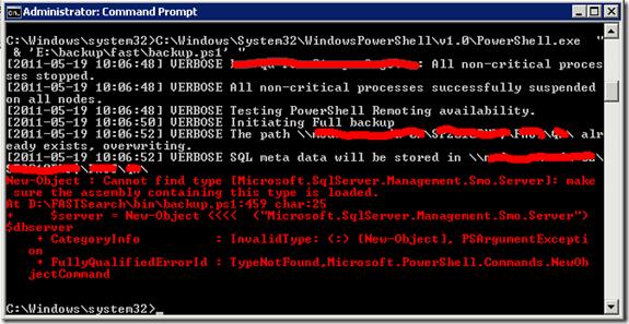 Cannot find type [Microsoft.SqlServer.Management.Smo.Server]