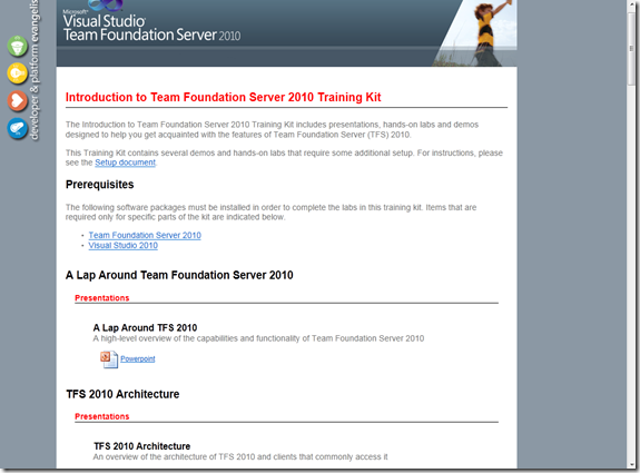 Introduction to TFS 2010 Training Kit available for download | Azure