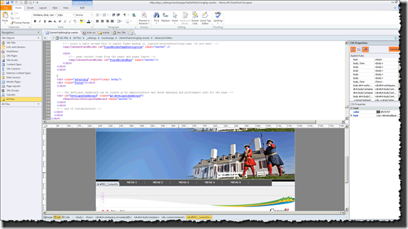 SharePoint Designer 2010 - Edit Master Page