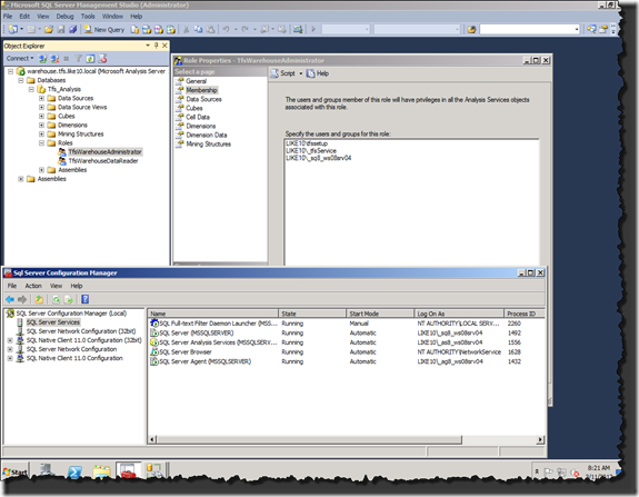 SQL Server Management Studio / SQL Server Configuration Manager
