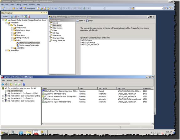 SQL Server Management Studio / SQL Server Configuration Manager