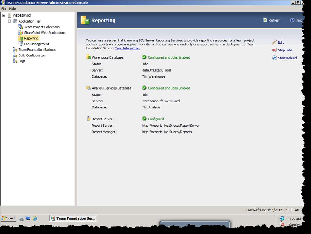 Failed to Process Analysis Database 'Tfs_Analysis' | Azure