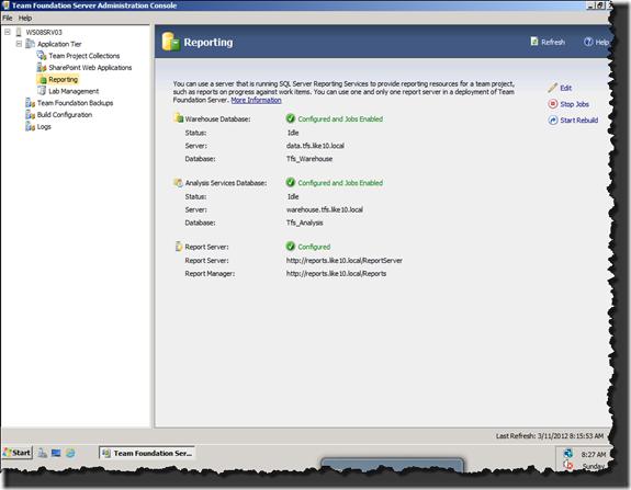 Team Foundation Server Administration Console