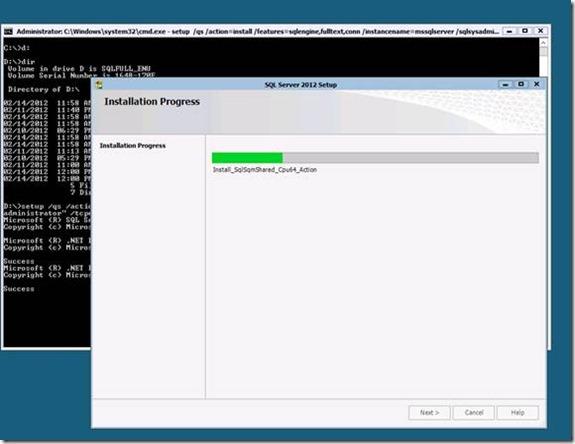 SQL Server 2012 Setup Command Line