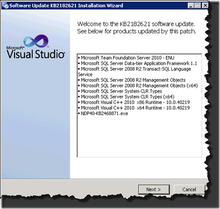 Visual Studio Team Foundation Server 2010 SP1