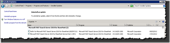 Hotix for Microsoft FAST Search Server 2010 for SharePoint