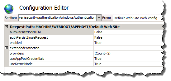 IIS Configuration Editor