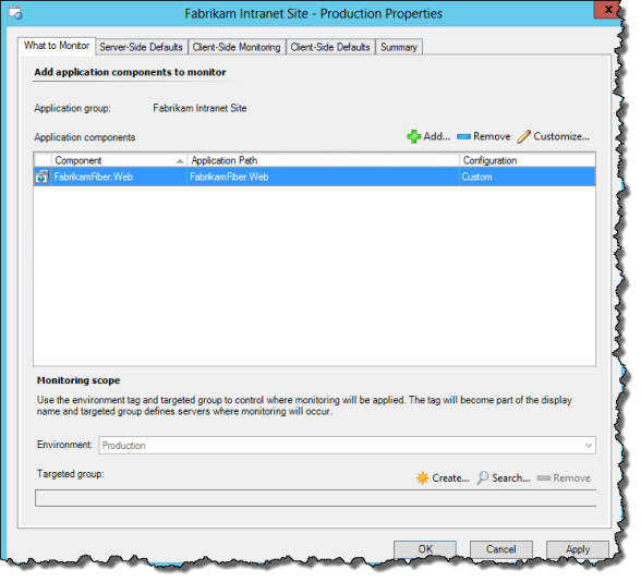Application Monitoring Properties