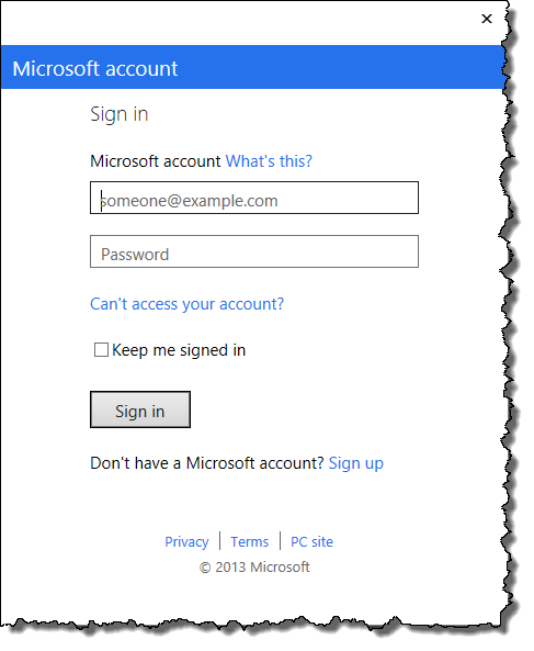Sign In to your Microsoft Account (previously called Windows Live ID)