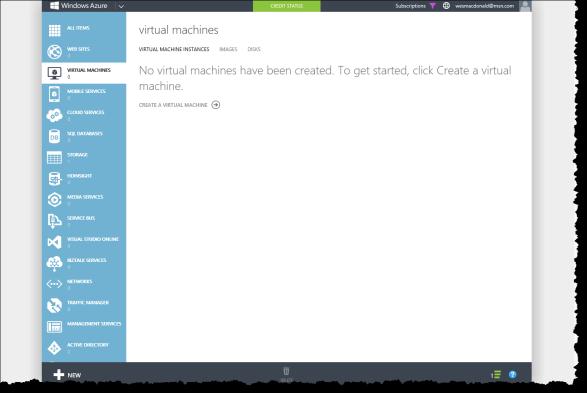 Hosting the VS 2013 ALM VM in a Windows Azure Virtual