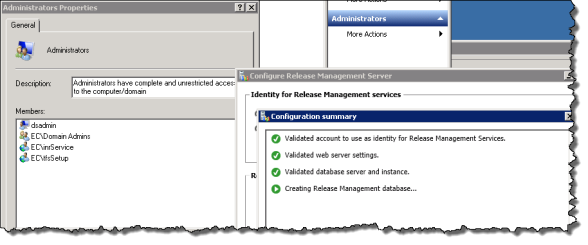 Release Management | Apply Settings