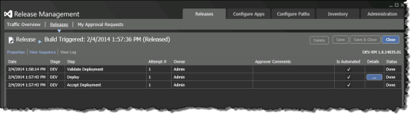 Release Management | Releases | Releases | Open