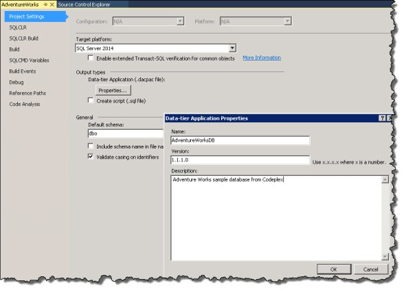 Data-tier application properties