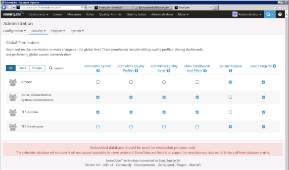 SonarQube 6 0 integration with TFS15 RC behind ARR 3 0