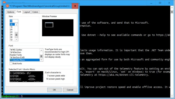 Running the Ubuntu VSTS Agent on Windows Subsystem for Linux
