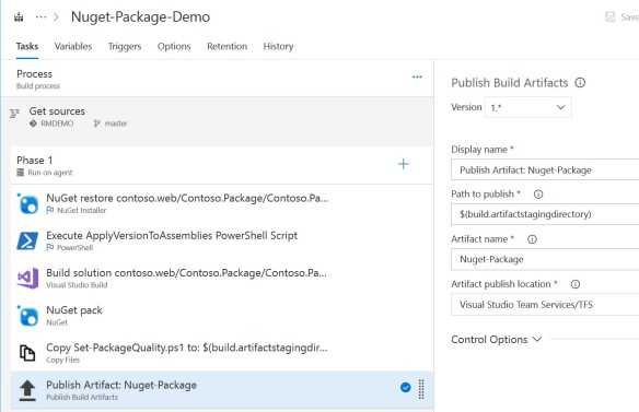 Continuous Delivery of your NuGet Packages with VSTS | Azure
